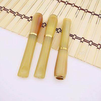 清洗型牛角烟嘴超强香烟专用循环烟斗烟袋烟杆烟锅可清洗男女通用