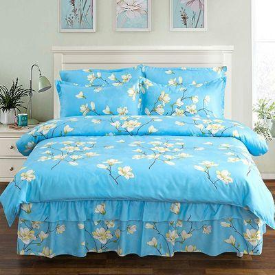 床裙款四件套床上用品被套被罩床罩像纯棉网红公主风婚庆1.8米床