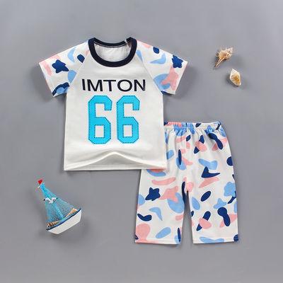儿童纯棉短袖套装0-5岁男童女童短裤夏童装婴儿夏季衣服半袖套装