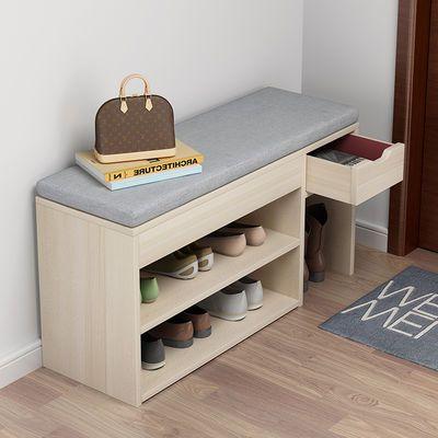换鞋凳家用进门口鞋柜可坐式床尾凳仿实木储物多功能北欧穿鞋凳子