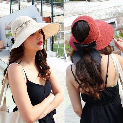 草帽子女夏天韩版遮阳帽女防紫外线遮脸防晒帽子夏季女遮阳新款帽