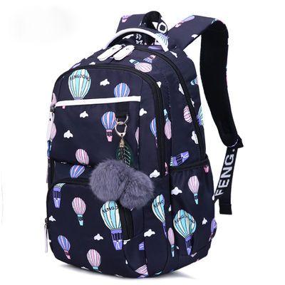 女双肩背包中学生小学生初中高中女学生韩版书包防水印花大容量包