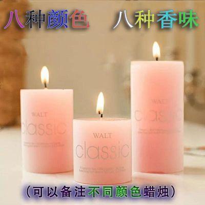 香薰蜡烛浪漫无烟欧式精油spa大圆柱烛光晚餐蜡烛去烟味除包邮