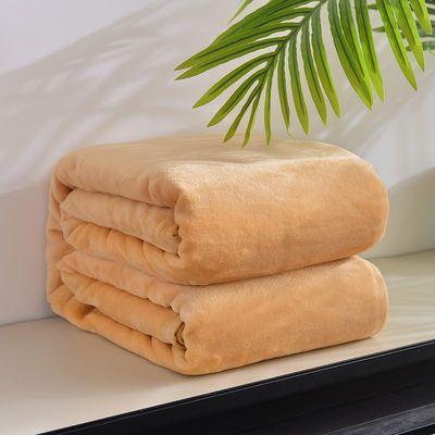 冬季纯色毛毯珊瑚绒床单单件加厚法兰绒学生宿舍午睡毯夏季空调毯