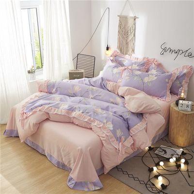 韩版网红公主风床上四件套全棉纯棉床裙款床单式少女心被套带床罩
