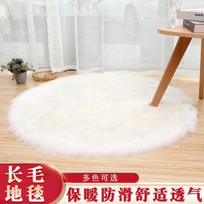 圆形地毯卧室满铺客厅茶几仿羊毛地毯毛毛绒地毯定制迎宾毯楼梯垫