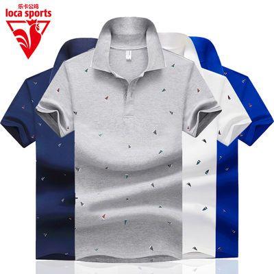 快速发货印花短袖t恤男装夏季新款半袖上衣服韩版体恤翻领pol