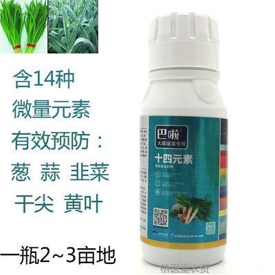大蒜大葱洋葱韭菜专用叶面肥预防干尖黄叶十四元素液体复合肥料