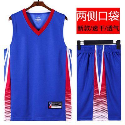 篮球服套装男夏季速干球衣学生比赛队服团购定制大码运动健身服男