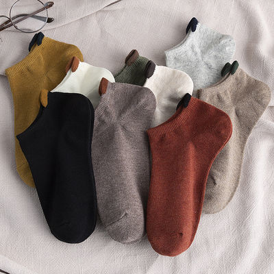 短袜子女船袜ins潮夏季浅口低帮薄款日系纯棉防滑不掉跟韩版春秋