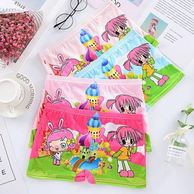 4条包邮童裤男女童卡通可爱儿童小学生小中大童四角短裤内裤