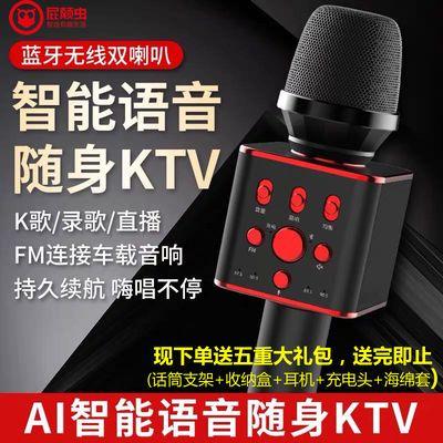 屁颠虫X6音响一体麦克风手机全民K歌话筒自带声卡无线蓝牙车载ktv