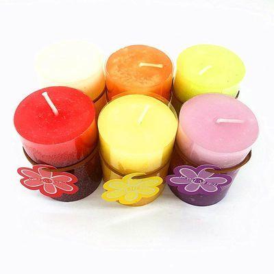 香薰蜡烛圆柱欧式小蜡烛植物精油去烟去味无烟香熏香家用香氛蜡烛