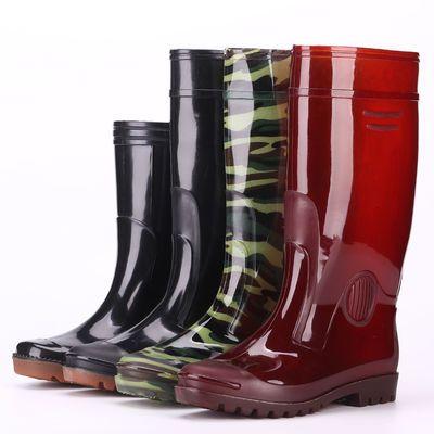 防滑加厚雨鞋防水鞋橡胶鞋雨靴男牛筋男士工作鞋鞋男高筒劳保中筒