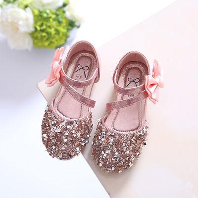 夏季新款儿童凉鞋包头亮片皮鞋韩版女童公主鞋小女孩舞蹈鞋新款