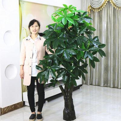 地盆栽大型客厅盆景假花塑料花装饰仿真绿植假树发财树仿真植物落
