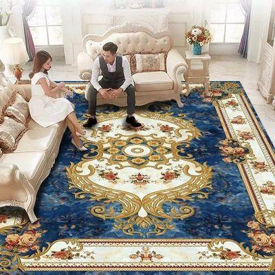 欧式客厅地毯茶几毯沙发家用卧室满铺房间地垫现代简约可机洗定制