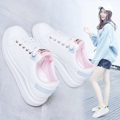 鞋子女2020潮鞋新款百搭春秋小白鞋夏季学生chic街拍单鞋透气白鞋