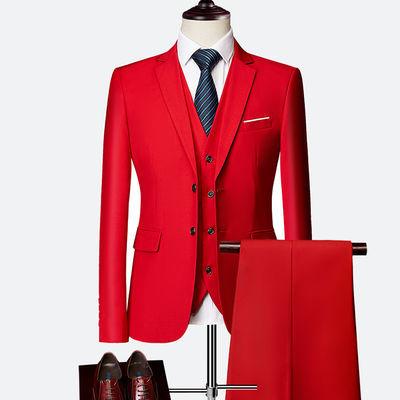 西服套装男士三件套韩版商务职业正装伴郎团体小西服新郎结婚礼服