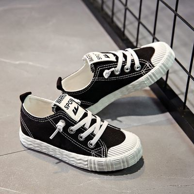 2020春季回力新款系带童鞋男女童帆布鞋小白鞋学生鞋跑步鞋韩版潮