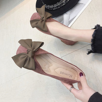 女鞋2020新款春鞋单鞋春款春秋季平底百搭韩版夏季浅口配裙的仙女
