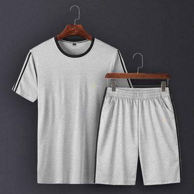 【两件套】Camaged运动休闲套装短袖圆领舒适男装DD