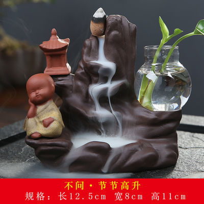 新款陶瓷倒流香炉摆件香薰炉檀香炉沉香道线香插熏香除臭创意水培