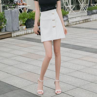 米梵熙短裙半身裙女春夏2020港味百搭显瘦时尚韩版包臀高腰A字裙