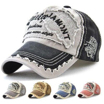 帽子男潮春夏韩版百搭鸭舌帽复古时尚做旧牛仔帽休闲遮阳棒球帽女