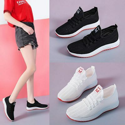 新款韩版老北京布鞋女士跑步运动鞋网红轻便休闲网鞋防滑软底单鞋