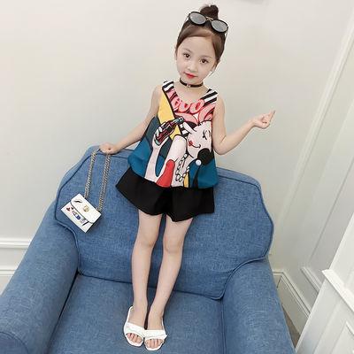 【反季清仓】2020新款童装女童夏装套装洋气夏季两件套时尚潮衣服
