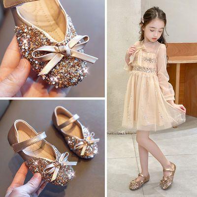 女童公主鞋2020春夏季新款女童单鞋儿童鞋小女孩鞋子宝宝水晶皮鞋