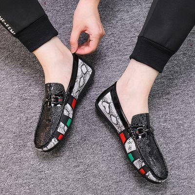 夏季韩版豆豆鞋男网红社会精神小伙鞋子男士休闲皮鞋懒人百搭潮鞋