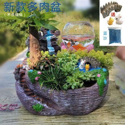 花盆大号 树脂空中花盆 微景观卡通绿植盆栽花器欧式多肉花盆组合