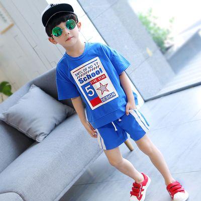 【清仓】童装男童夏装套装2019新款儿童短袖运动中大童夏季男孩衣