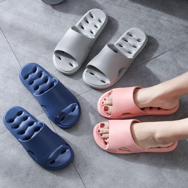 居家棉鞋浴室拖鞋女夏天室內家用防滑速干衛生間漏水鏤空居家洗澡涼拖鞋男