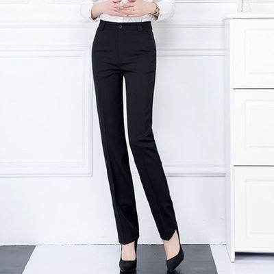 西裤女职业2020新款高腰修身显瘦直筒裤工作裤黑色长裤工装裤春夏