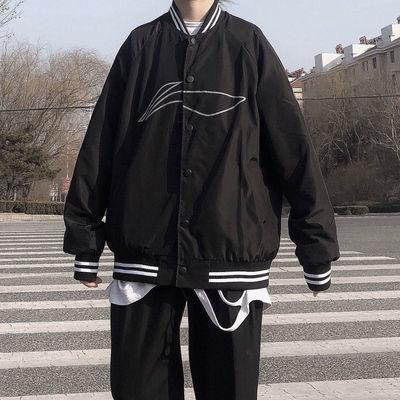 新款2020ss中国印花棒球服国潮宽松外套男女运动薄款网红ins休闲