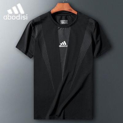 户外运动短袖T恤男速干吸汗透气夏季冰丝跑步健身宽松大码速干衣