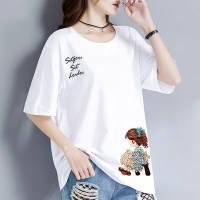 单/两件多款多色短袖95棉t恤女装夏季新款韩版宽松大码体恤打底衫