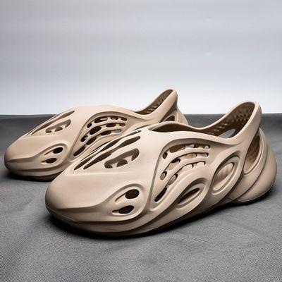 椰子洞洞鞋ins潮男士凉鞋2020新款夏季罗马沙滩鞋女情侣运动拖鞋