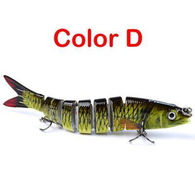 13.28cm经典路亚多节鱼12色鱼饵19g路亚塑料鱼饵硬饵翘嘴海钓假饵