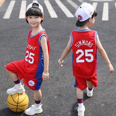 儿童篮球服套装男2019夏装男童中小学生比赛训练队服透气背心球衣