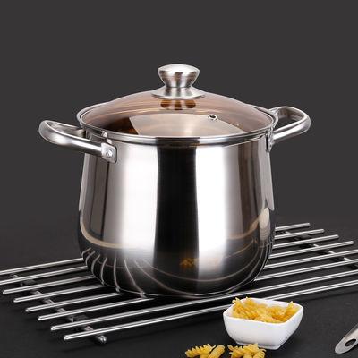 爆款汤锅加厚304不锈钢大容量复底煮面锅煲粥锅电磁炉燃气通用特