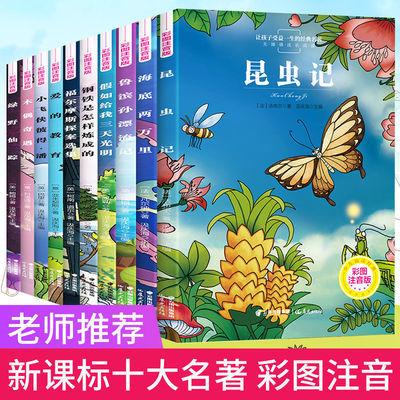 全10本彩图注音版小学生课外书世界名著必读儿童一二三年级昆虫记