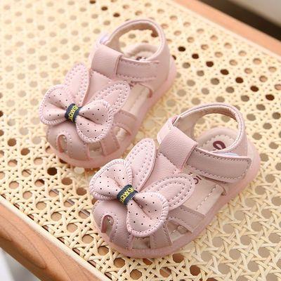 39193/2021夏季女宝宝凉鞋0-1岁包头软底学步鞋6-12个月公主鞋3婴儿鞋子