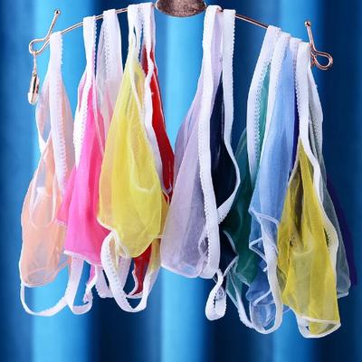 3条装男士jj套丝袜内裤超薄性感全透明一片式无痕丝袜骚男三角裤