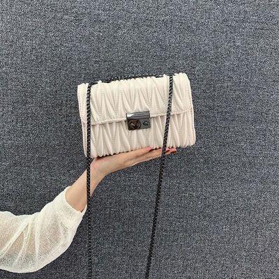 ins少女感2020新款小包包女士网红洋气韩版百搭学生链条包斜挎包