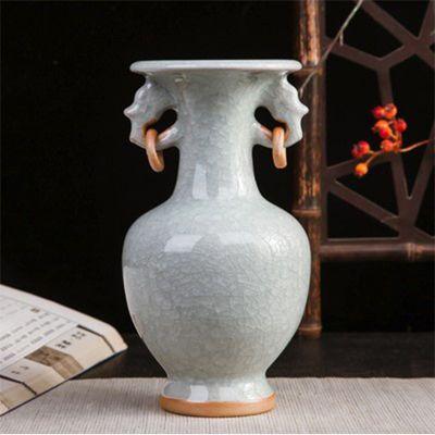 新款景德镇陶瓷器 钧瓷仿古开片花瓶现代家居客厅装饰工艺品古典