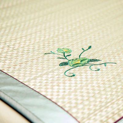 新款天然蔺草席1.8m双人床草席1.5折叠凉席1.2米0.8m学生宿舍夏季